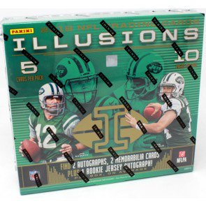 2018 Panini Illusions Football Hobby 16 Box Case