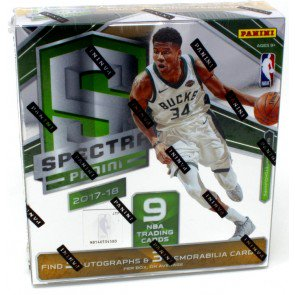 2017/18 Panini Spectra Basketball Hobby 8 Box Case
