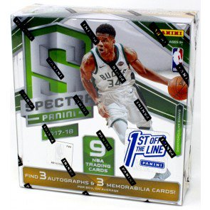 2017/18 Panini Spectra Basketball 1st Off The Line Hobby Box