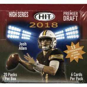 2018 Sage Hit High Series Football Hobby 16 Box Case