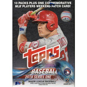 2018 Topps Series 1 Baseball Blaster 16 Box Case
