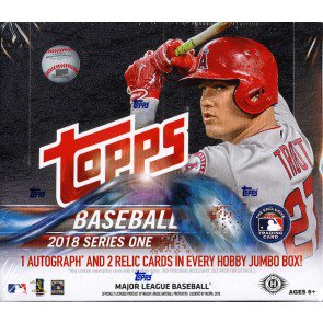 2018 Topps Series 1 Baseball Jumbo 6 Box Case