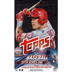 2018 Topps Series 1 Baseball Hobby 12 Box Case