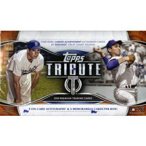2018 Topps Tribute Baseball Hobby