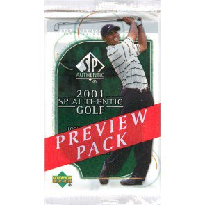 2001 Upper Deck SP Authentic Golf Preview Pack - [100 pack LOT]