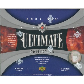 2007 Upper Deck Ultimate Collection Baseball Hobby 4 Box Case