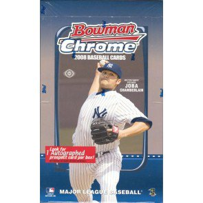 2008 Bowman Chrome Baseball Hobby 12 Box Case