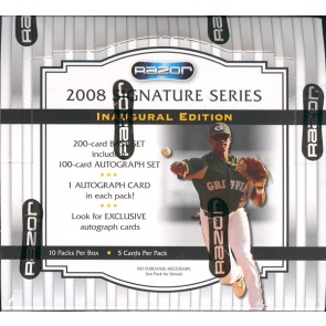2008 Razor Signature Series Baseball 10 Box Case