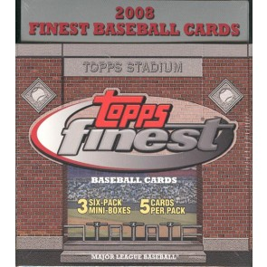 2008 Topps Finest Baseball Hobby Box