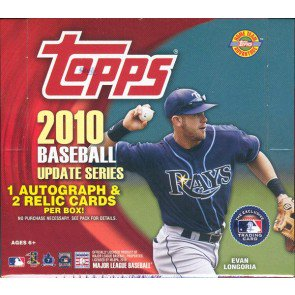 2010 Topps Update Series Baseball Jumbo HTA 6 Box Case