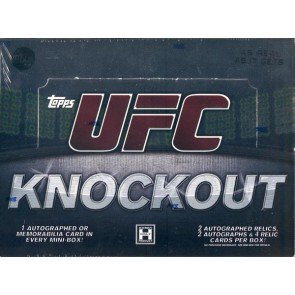 2010 Topps UFC Knockout Hobby 4 Box Case