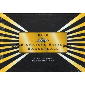 2012 Leaf Signature Series Basketball Hobby Box
