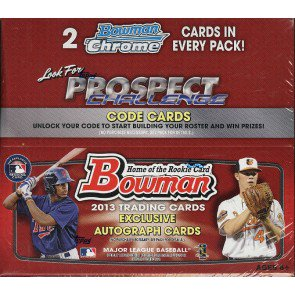 2013 Bowman Baseball Retail Box