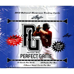 2013 Leaf Perfect Game Showcase Baseball Box