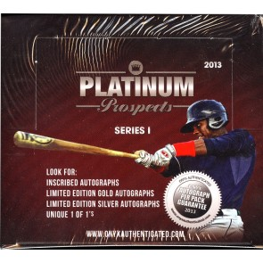 2013 Onyx Authenticated Platinum Prospects Series 1 Box