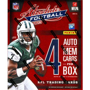 2013 Panini Absolute Memorabilia Football Hobby 18 Box Case