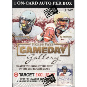 2013 Press Pass Gameday Gallery Football Blaster Box
