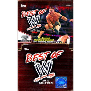 2013 Topps Best Of WWE Gravity Feed Retail 6 Box Case