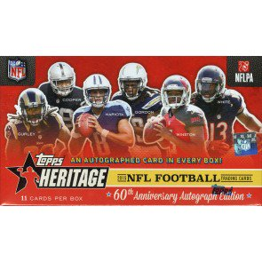 2015 Topps Heritage Football 20 Box Lot