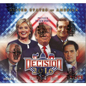 Decision 2016 Trading Cards - 6 Box Case