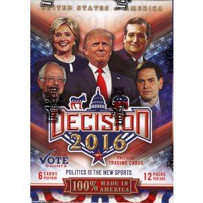 Decision 2016 Trading Cards - Blaster 20 Box Case