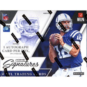 2016 Panini Prime Signatures Football Hobby 12 Box Case