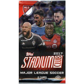 2017 Topps Stadium Club MLS Soccer Hobby Pack