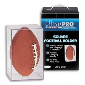 Ultra Pro Football Square Holder w/UV Protection - 6ct Case