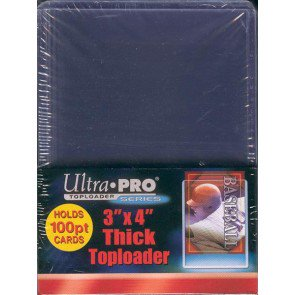 Ultra Pro 3x4 Thick Topload 100pt Card Holder - 25ct Pack