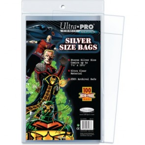 Ultra Pro Silver Age Comic Book Bag - 100ct Pack