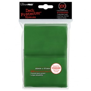 Ultra Pro Deck Protector Standard Size Green - 100ct Pack