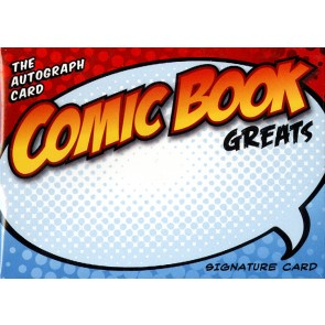 The Autograph Card Blank Signature Cards - Comic Book