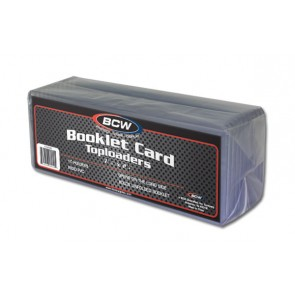 BCW 7 3/8x2 1/2 x 5mm - Booklet Card Topload Holder - 10ct Pack