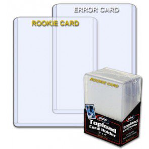 BCW 3x4 Topload Card Holder - Rookie Imprinted White(25 ct Pack)