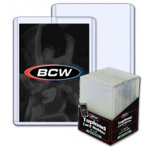 BCW 3x4 x 2mm -Thick Card Topload Holder 79pt (25ct Pack)