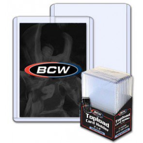 BCW 3x4 x 3.5mm -Thick Card Topload Holder 138pt -10 ct Pack