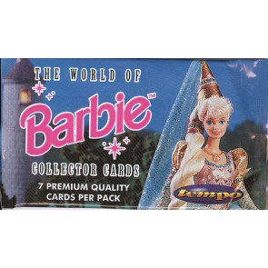 The World of Barbie (Tempo) Trading Cards 50 Pack Lot