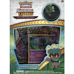 Pokemon Shining Legends Marshadow Pin Collection 24 Box Case