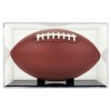 BallQube UV Grandstand Football Display with Black Base