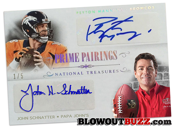 It s about time for a Peyton Manning   Papa John autographed card e517292eb