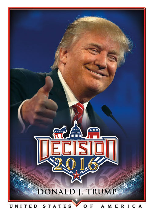 2016 Decision Jumbo Box Topper Series 1 Ronald Reagan J22