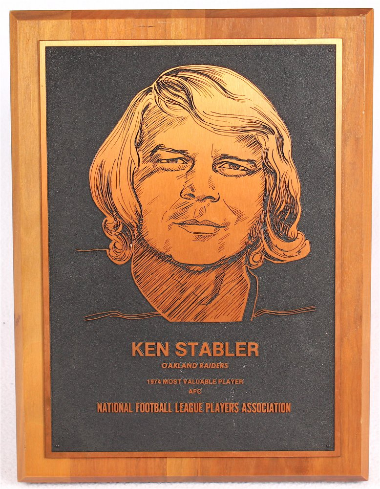main_1-Ken-Stabler-1974-National-Football-League-Players-Association-NFL-MVP-Plaque-Stabler-LOA-PristineAuction.com
