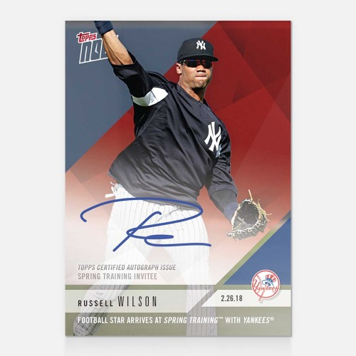 Russell Wilson Gets Some New Baseball Cards Via Topps Now Blowout Buzz