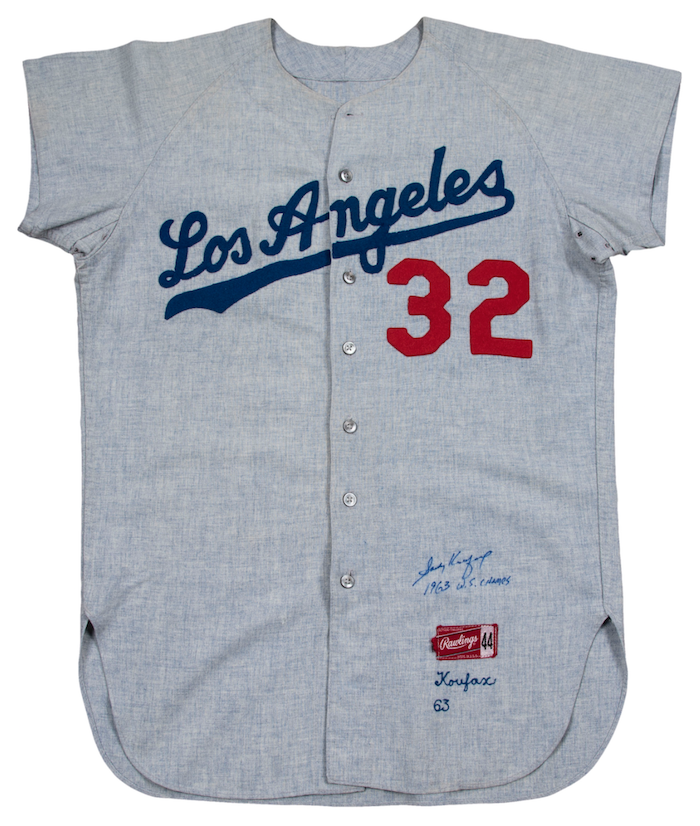 Sandy Koufax jersey sets Los Angeles Dodgers auction record 763079b6e