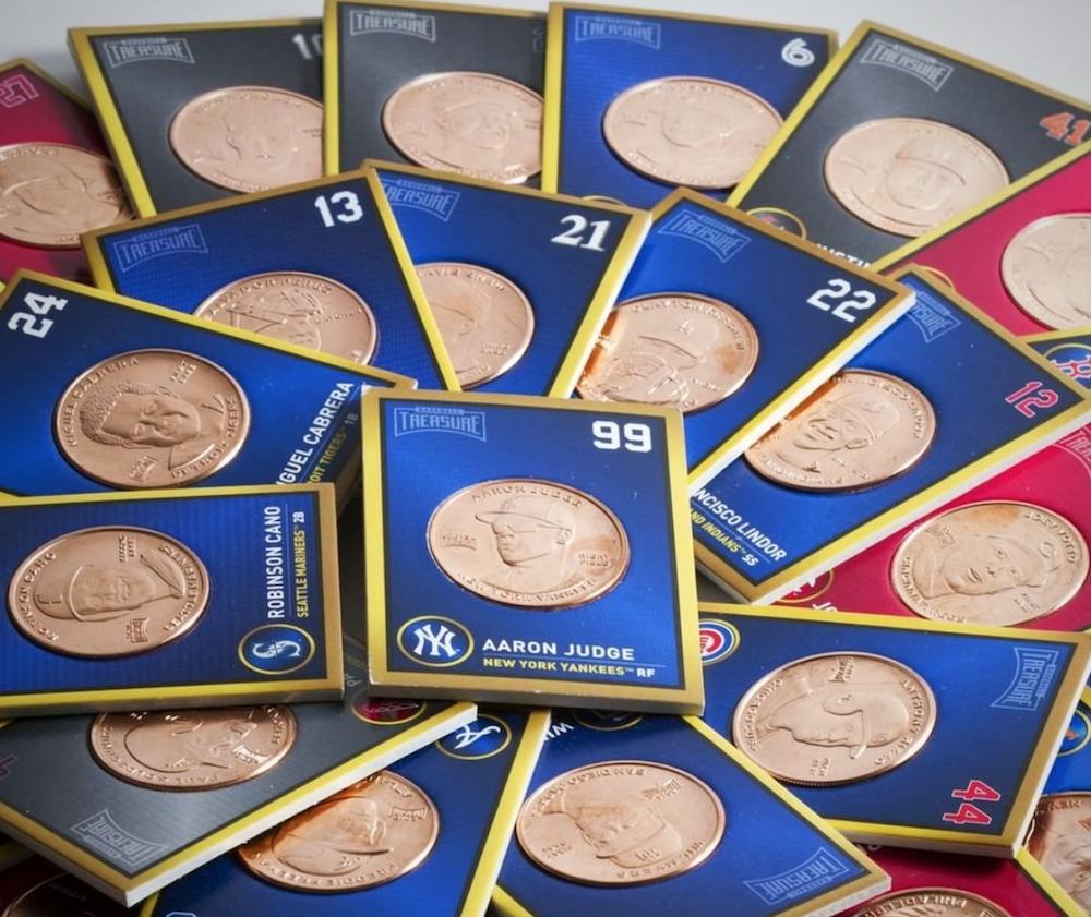 2019   BASEBALL TREASURE   1 oz Copper coin  Card   CLAYTON  KERSHAW