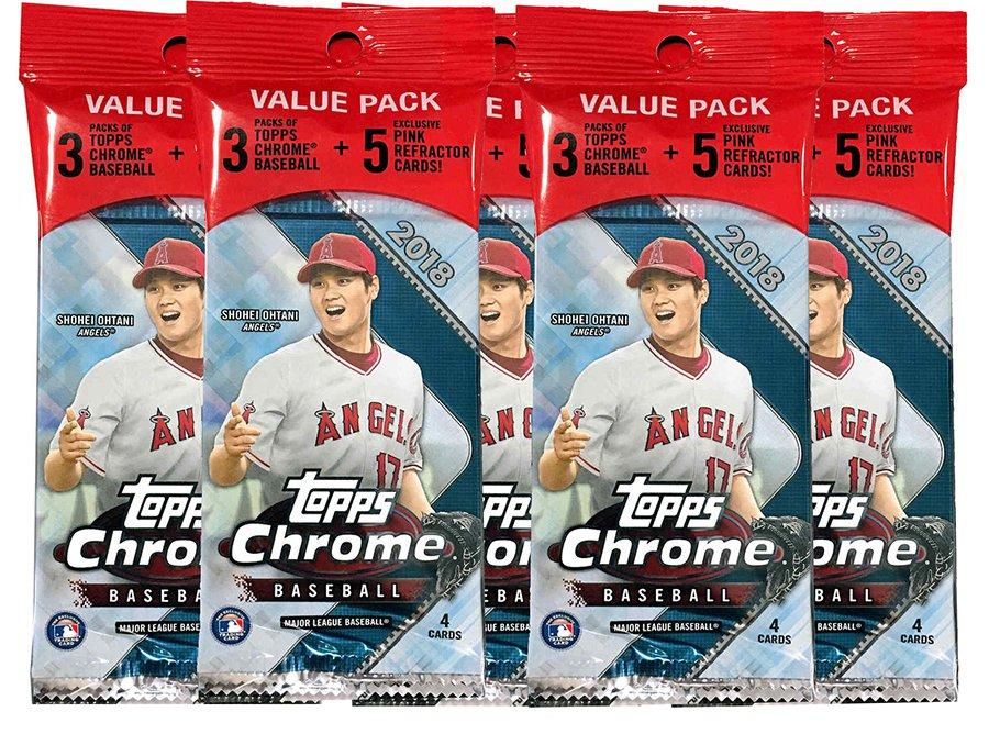 Buzz Break 2018 Topps Chrome Baseball Cards Five Value