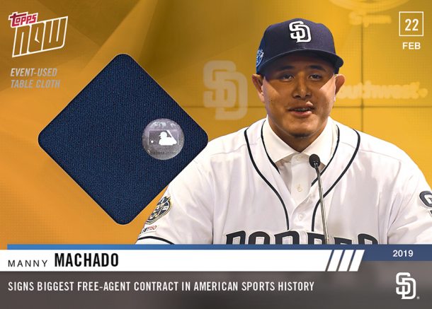 Manny Machados First San Diego Padres Baseball Cards Come