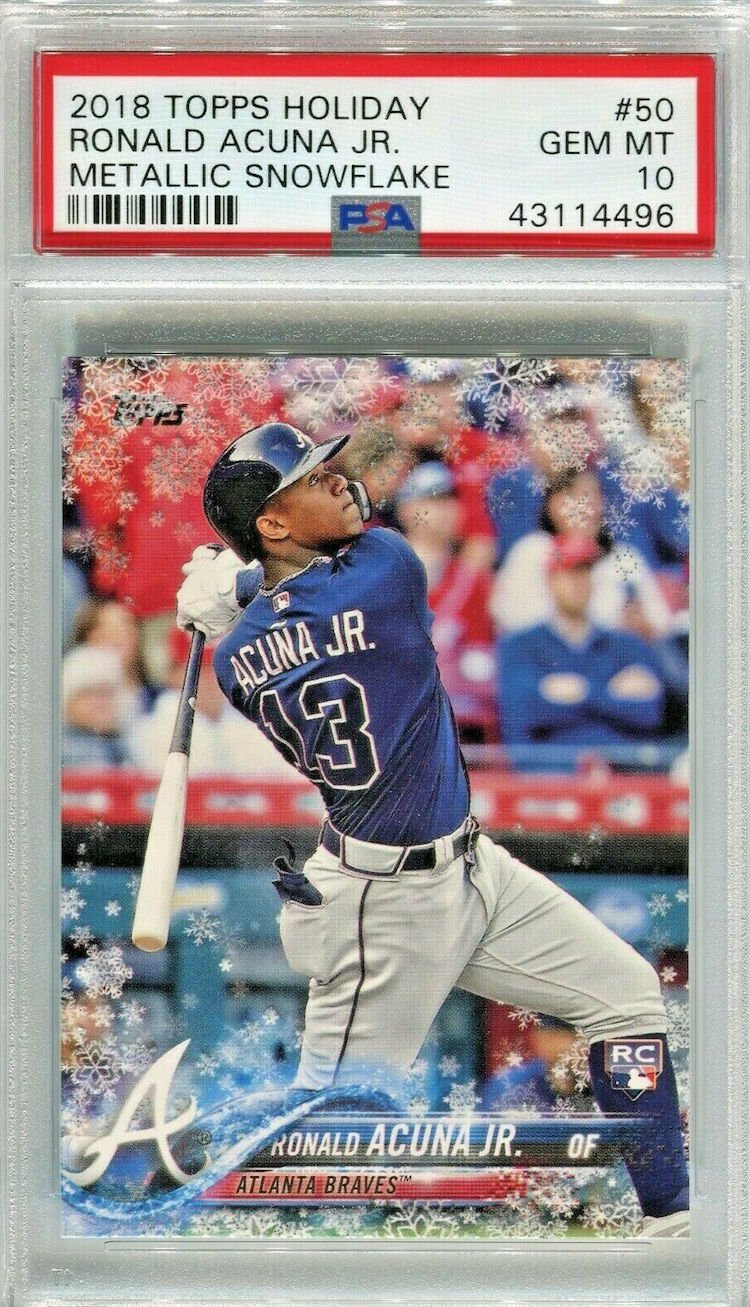 Is Ronald Acuña Jrs 2018 Topps Holiday Rookie Card The