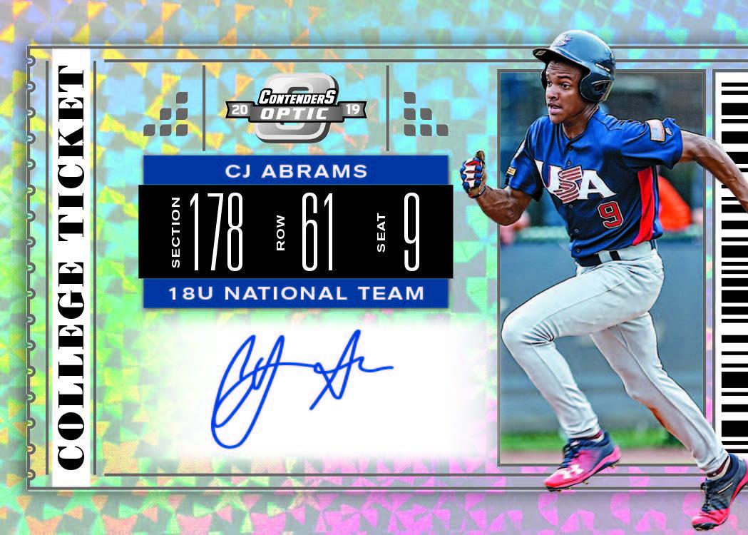 First Buzz 2019 Panini Contenders Draft Picks Baseball